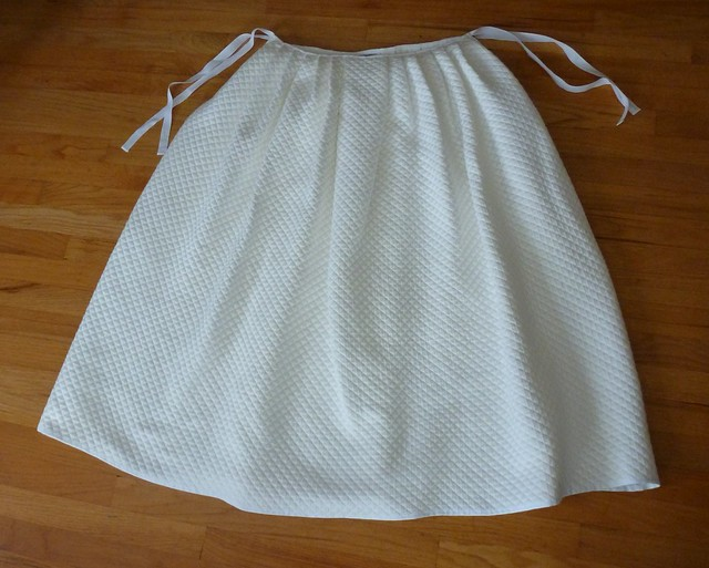 "18th century ""mock quilted"" marseilles petticoat"