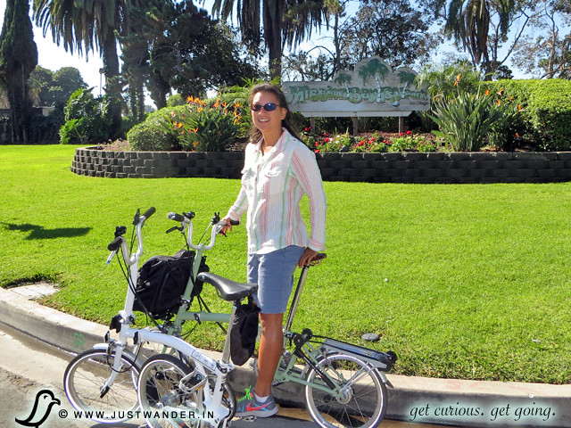 PIC: Brompton folding bike ride around Mission Bay Park
