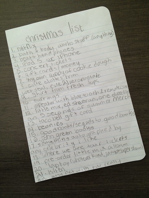 Tween Christmas List