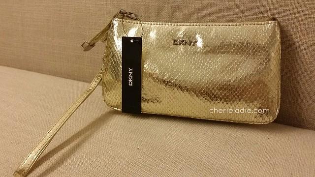 DKNY Gold Wristlet - Front
