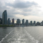 Vancouver skyline from boat