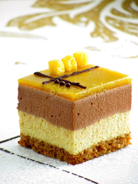 Mousse al mango e gianduia