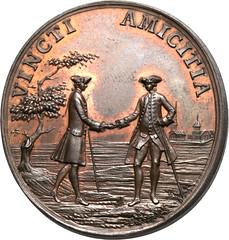 1763 Charlestown Social Club medal obverse