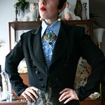 Oleg Cassini Black Tie cropped tuxedo jacket from tag sale in Dix Hills