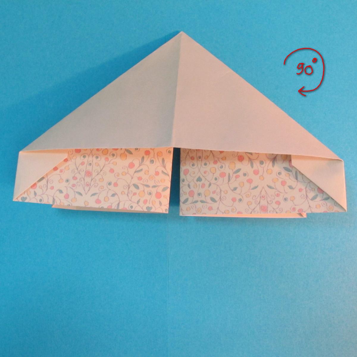 วิธีพับกระดาษเป็นผีเสื้อหางแฉก 023