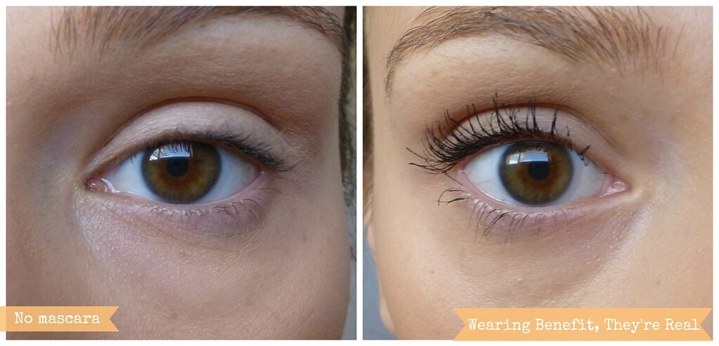 Benefit they're real mascara before after photo australian beauty reveiw blog blogger aussie makeup cosmetics honest length black volume curl beautiful pretty