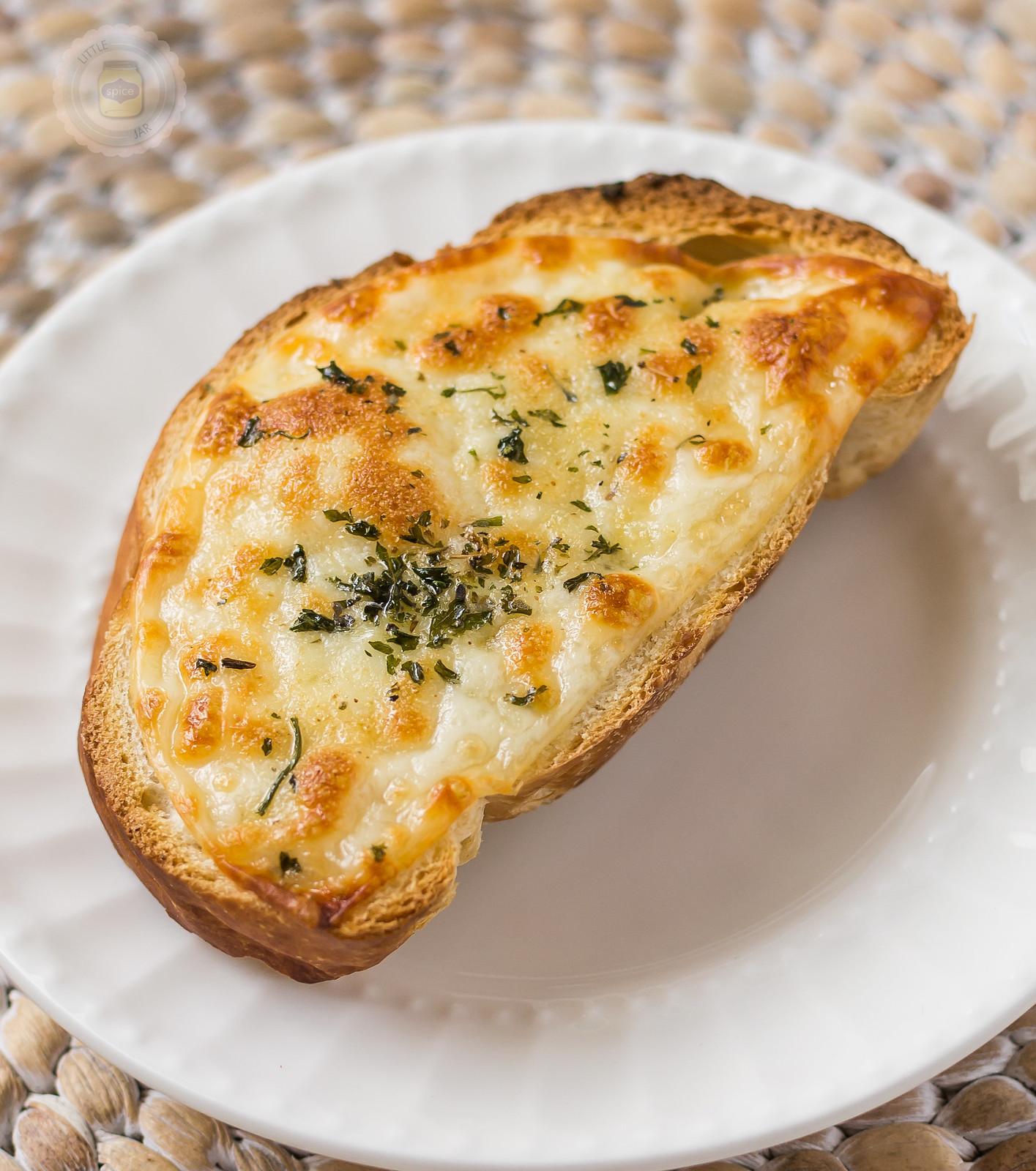 ... garlic bread. It's simple. Cheesy. Garlicky. Carby… deliciousness