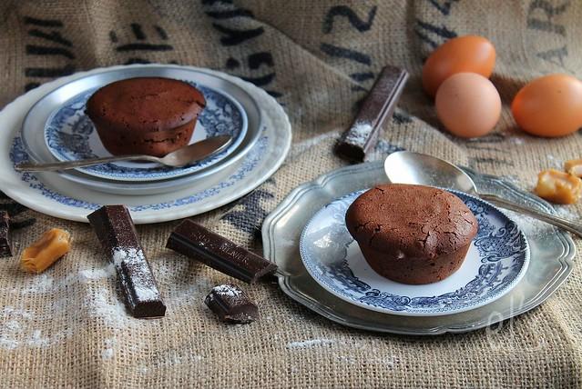 Moelleux au chocolat coeur caramel au beurre salé