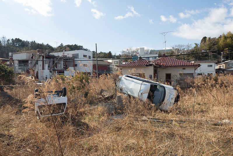 Upturned Cars, Downtown Tomioka