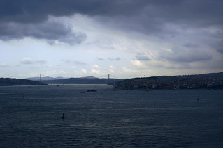 Bosphorus Bridge and Istanbul, from Topkapi Palace