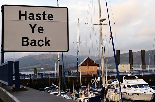Haste ye Back, Rothesay, Isle of Bute, Scotland