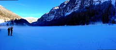 Panorama w/ Adam and Phil at Lac de Montriond
