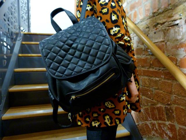Leopard print smock | Outfit post | Velvet leggings