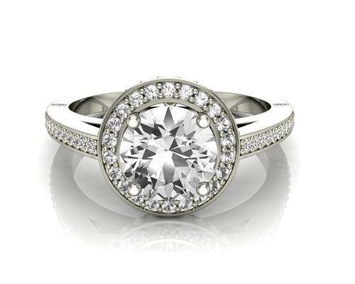 Vintage style Halo Ring 67856-Image 1