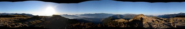 合歡山北峰視野全景圖
