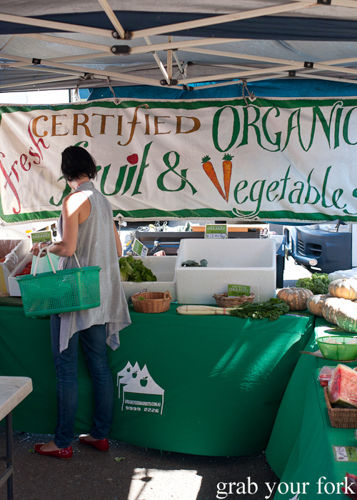 Certified organic fruit and vegetables at Frenchs Forest Organic Food Market