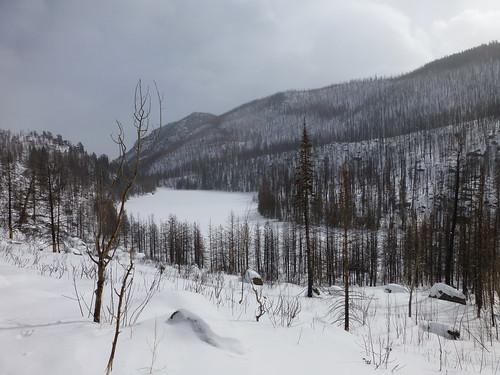 Cub Lake frozen in the winter