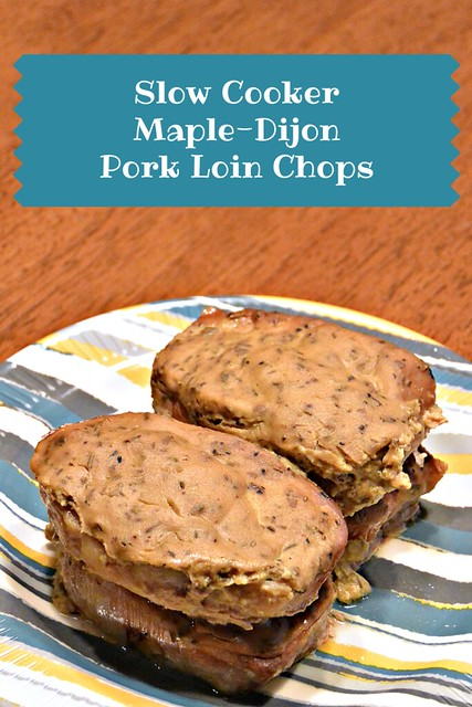 Slow Cooker Maple-Dijon Pork Loin Chops