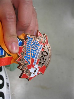 Mei's Around the Bay medal.