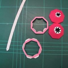 วิธีทำโมเดลกระดาษตุ้กตาคุกกี้รัน คุกกี้รสสตอเบอรี่ (LINE Cookie Run Strawberry Cookie Papercraft Model) 036