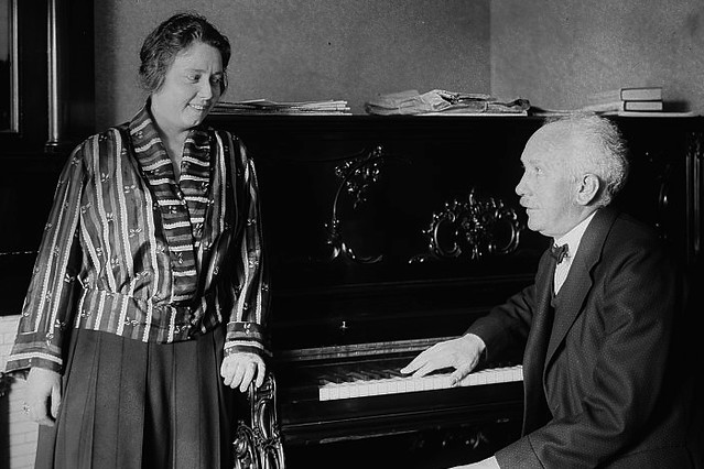 Elisabeth Schumann and Richard Strauss, date unknown. By George Grantham Bain