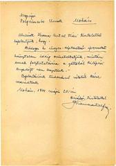 V/1.a. Kramer Antal fiai bádogos és képkeretező cég iparát szüneteltette, mivel nem kaptak kijárási engedélyt a gettóból (Mohács, 1944. május 20).
