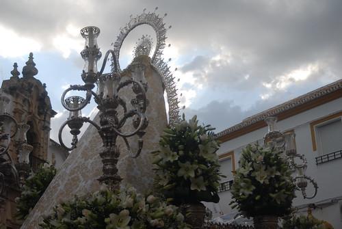 AionSur 14135199697_f1f1259431_d La lluvia de final de mayo no evita una bonita procesión de la Virgen de Montemayor Cultura Semana Santa