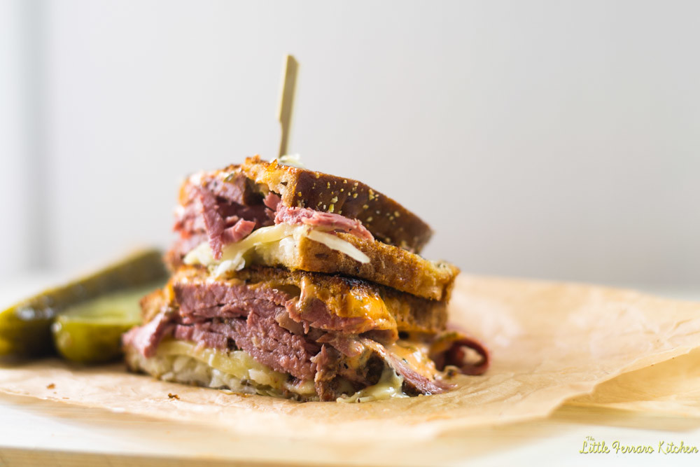 Reuben Sandwich-Kicked Up a Notch via LittleFerraroKitchen.com