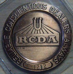 Retail Coin Dealers Association medal obverse