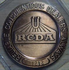 Retail Coin Dealers Association medal obverse