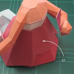 วิธีทำโมเดลกระดาษตุ้กตาคุกกี้รัน คุกกี้รสจิ้งจอกเก้าหาง (Cookie Run Nine Tails Cookie Papercraft Model) 015