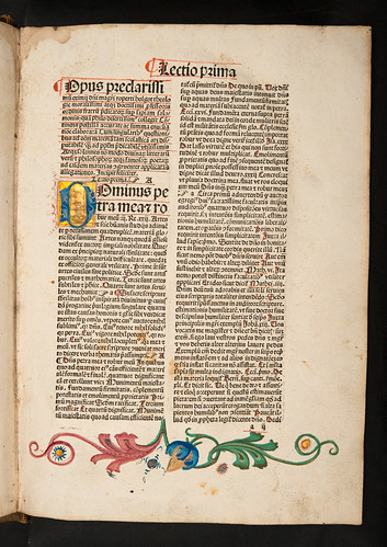Illuminated and decorated page in Holkot, Robertus: Super sapientiam Salomonis