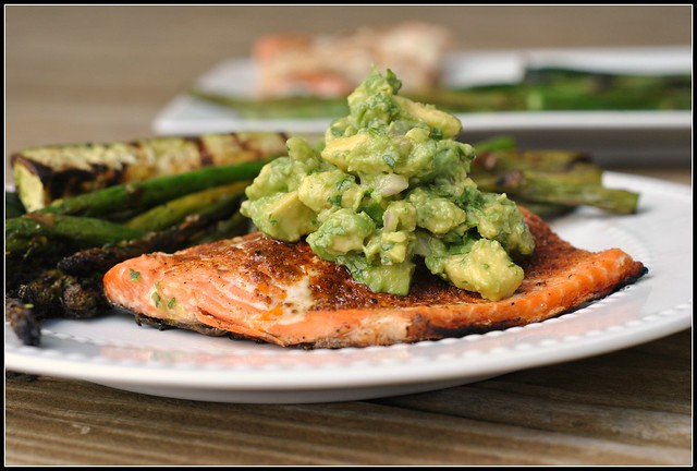 Grilled Salmon with Avocado Salsa 1