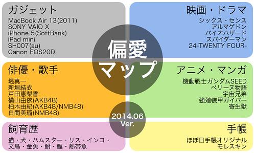 偏愛マップ(名刺) 2014/06/17