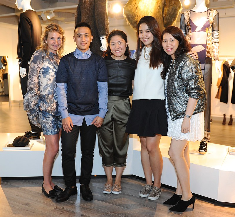 H&M team- Karin Bringevall, H&M PR Project Responsible, New Market Expansion, Danreb Mejia, H&M PH PR Responsible, Nikki Verzo, H&M PH Showroom Responsible, Abby Wee, PR Exec and Lisa Chan, Regional PR Responsible