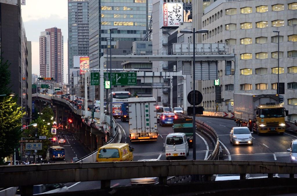 Shutoko Inner Circular over Tameike Intersection in 2013 September