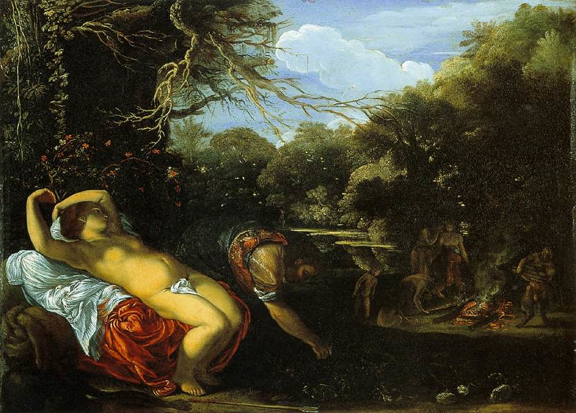 Adam Elsheimer, Apollo and Coronis, 1607-08, Oil on copper, 12,6 x 17,4 cm, Walker Art Gallery, Liverpool