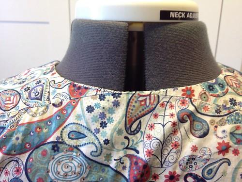 Liberty Mark Simplicity 2389 back bodice closeup