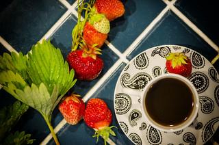Espresso and Strawberries