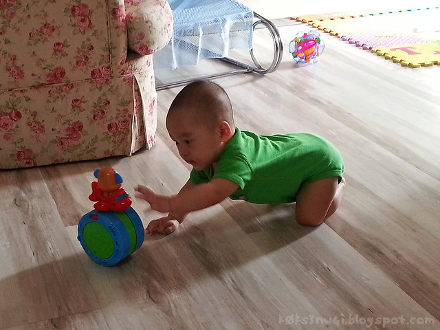 210 Days Old - Crawling After Toy
