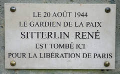 Photo of René Sitterlin marble plaque