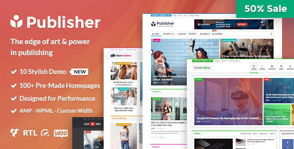 Publisher v1.7.4 - Magazine, Blog, Newspaper and Review WordPress Theme