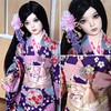 Niza has a beautiful new kimono I got at LDoll :two_hearts: she looks absolutely stunning! I wanted to give her a kimono for so long and I am happy it works so well :heart_eyes: #kimono #BJD #supiadoll #rosy