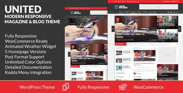 United v2.0.23 - Modern Responsive Magazine & Blog Theme