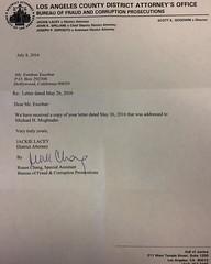 A Letter from LA County District Attorney Jackie Lacey #jackielacey regarding #unprofessional attorney #MichaelHMogtader not responding to my #Paymentdemands on the #Debt #ShahbodNoori aka #ShawnNoori from #tehranmagazine #tehraninternationalweeklymagazin