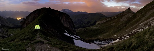 sunset panorama mountain france alps coucherdesoleil aravis bivouac bornes biwak montcharvin lesfontanettes coldesporthets stephanna