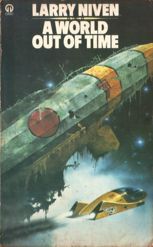 A World Out of Time by Larry Niven. Orbit 1977. Cover artist Tony Roberts