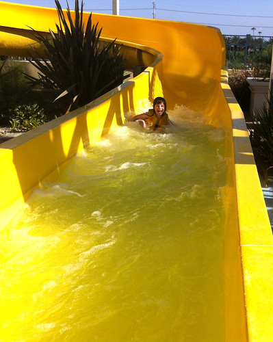 Giant Water Slide at Hotel