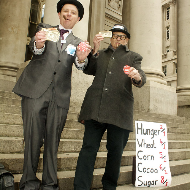 WDM London Bankers Anonymous stunt