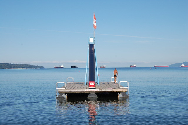 Pontoon / slide at English Bay, Vancouver